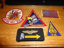 F 14 TOMCAT DESERT STORM USMC  VF 301 PATCH SET  LOT OF 5  NEW   # 16