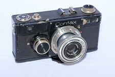 Zeiss Contax I (F) 35mm film rangefinder camera with 5cm f3.5 Tessar lens.