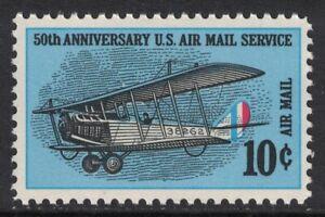 Scott C74- Curtiss Jenny, 50th Anniversary of Air Mail- MNH 10c 1968- mint stamp