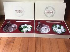 Oneida Crystal ~ Southern Garden ~ Chamerstick, Candle & Ivy Ring lot of 2