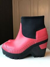 Hunter Wellington Wellies Impermeable Rojo Damas Cuña Botín Talla 5 38