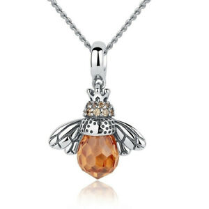Fashion Lovely Bee Charm Silver Pendant Necklace Women Jewelry