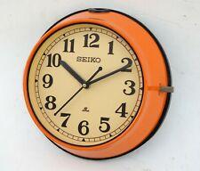 Vintage 1980's  Orange Slave Maritime Clock Nautical Ship Seiko Quartz Japan