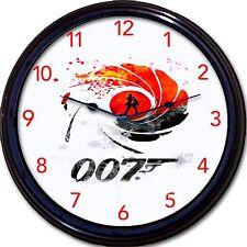 "James Bond 007 Sean Connery Ian Fleming Movie spy film Detective Wall Clock 10"""
