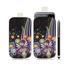 Housse coque étui pochette pour HTC Radar avec motif HF05 + Stylet luxe