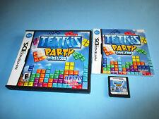 Tetris Party Deluxe Nintendo DS Lite DSi XL 3DS 2DS w/Case & Manual