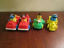 SESAME STREET Cars Vintage Lot of 4 Cookie Monster Bert Elmo