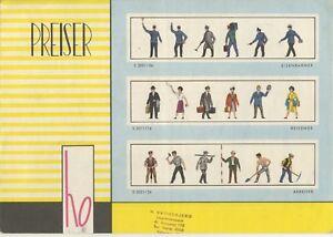 catalogo PREISER 1958 Figuren HO                           D      aa