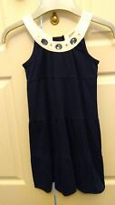 Girls navy  spring party occasion pinafore dress 2 years