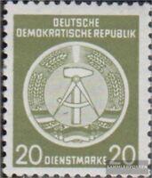 DDR DA8 postfrisch 1954 Zirkelbogen nach links