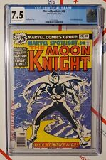 Marvel Spotlight 28 CGC 7.5 & 29 CGC 8.0 FIRST Moon Knight solo story COMPLETE