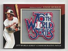 Eddie Murray 2010 Topps 76th World Series Commemorative Patch Card Orioles