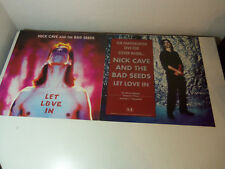 Original 1994 2-Sided Sign 18x18 Poster NICK CAVE & THE BAD SEEDS Let Love In