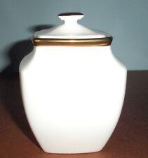 Lenox ETERNAL WHITE Square Sugar Bowl Gold Banded $121 New