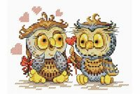 Cross Stitch Kit Owl's love M-087