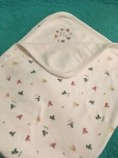 """Gap """"Time 2 Play"""" 100% Cotton Knit Baby Blanket W/Teddy Bears"""