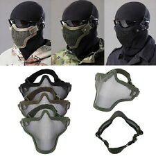 Steel Mesh Half Face Mask Guard Protect For Paintball Airsoft Game Hunting NI