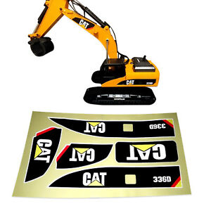 Sticker set for Huina 580 1580 TR-211m 23 channel Rc Excavator Amewi 1:14 decals
