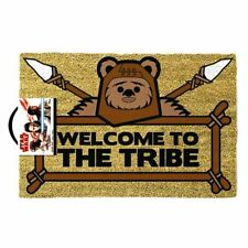 STAR WARS EWOK WELCOME TO THE TRIBE MAT DOORMAT 60 X 40 CM COIR PVC BACK