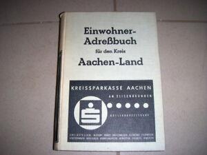 Adressbuch Kreis Aachen 1957 - Einwohnerbuch