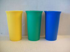 Tupperware Kids Cups Bell Tumblers 10.5 oz  Set Of 3 #2874A yellow blue green