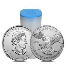 Roll of 25 - 2014 1 oz Silver Canadian Peregrine Falcon Birds of Prey Series BU