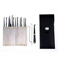 Unlocking Lock Opener Kit Practice Transparent Padlock Pick Torsion Tool Set UK
