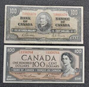 1937 1954 Canada $100.00 Circulated