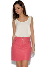 Girls On Film Faux Leather A-Line Skirt Size 8 Uk BNWT RRP £32.95 Raspberry