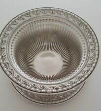 Sterling Silver Bowl with attached saucer made by International  style # C14