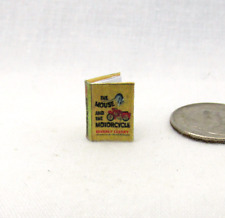 1:24 Scale THE MOUSE AND THE MOTORCYCLE Illustrated Miniature Book Dollhouse