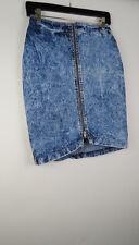 Vintage 90s 80s Entre acid wash denim zipper skirt 7