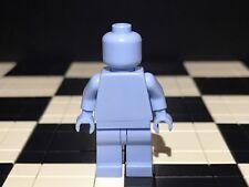 Lego Plain Bright Light Blue Minifigure Head Torso Hands Legs / Monochrome