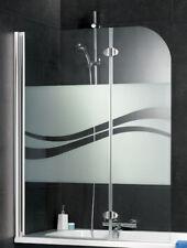 Schulte D3353 Badewannen-Faltwand Aufsatz Echtglas Liane Profil chrom ab Lager