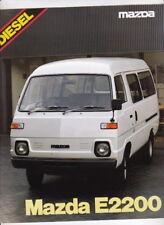 1980 MAZDA E-SERIES PANEL VAN & TRUCK RANGE 4p Brochure E2200 DIESEL