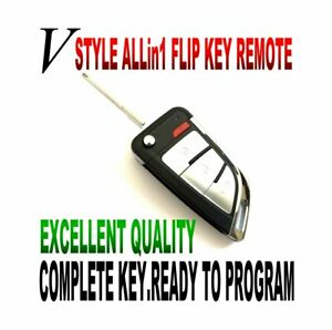 V-KEY STYLE FLIP remote for 2008-09 HUMMER H2 OUC60270 chip remote start keyless