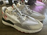 Adidas Nite Jogger Boost White Grey Red (F34123) Size 13