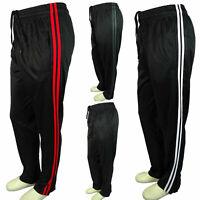 Men Black Sweatpants Red White Gray Sport Stripe Activewear GYM Work Out Dri-Fit