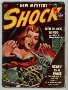 Shock  Mar 1948  FIRST issue;  John D. MacDonald, GGA Cvr