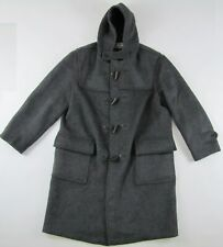 Gloverall Original English Duffle Coat duffel wool grey plaid lining mens Large