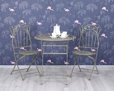 jardin garnir Meuble Ensemble de sièges Balcon Table 2 chaises ANCIEN Cru shabby