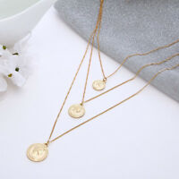 Vintage Multilayer Coin Pendant Necklace Boho Choker Clavicle Chain Gift New