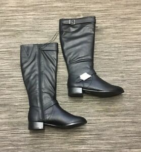 Red Herring Womens Faux Leather Flat Knee Boots Size 5 RRP£49