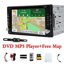 Autoradio Navigation MIT Doppel 2DIN GPS Navi Bluetooth USB MP3 DVD CD SD CAM DE