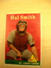 1958 TOPPS  CARD # 273 HAL SMITH ST. LOUIS CARDINALS  VG