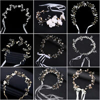 Bridal Pearl Hair Vine Crystal Wedding Hair Accessories Diamante Headpiece New.