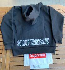 SUPREME NYC Thermal Hoodie - Made in Canada -Black-White Logo-Supreme Box Logo