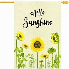 """1Pc Welcome Sign Garden Flag Two-Sided Outside Décor Banner Bunting 18""""x12"""""""