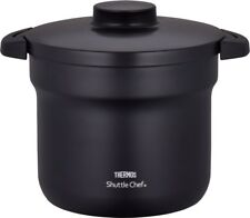 THERMOS Thermal Vacuum Warm Cooker Shuttle Chef KBJ-4500 Black 4.3L Cooking Pot