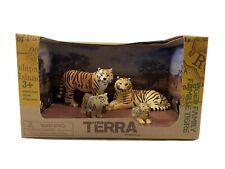 NEW Terra by Battat Tiger Family Animal Playset 4 pc Figure Set